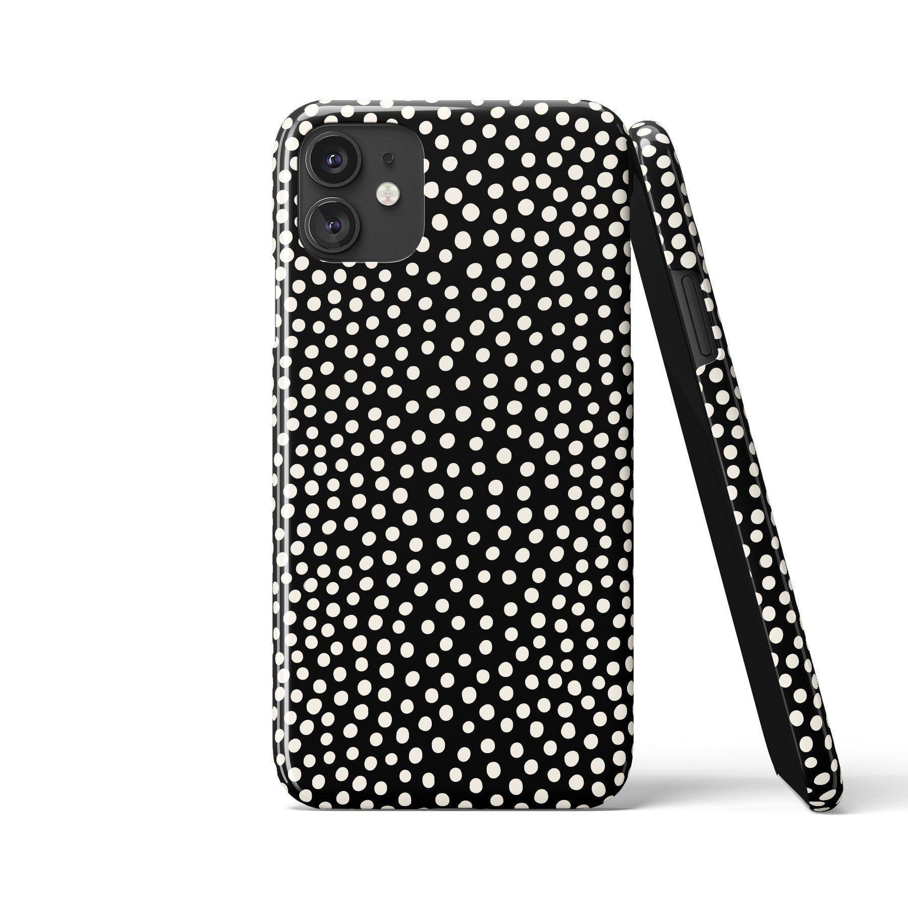 POLKA DOTS Mini Art Black Phone Case - Samsung S20 Ultra / Tough Case - Gloss