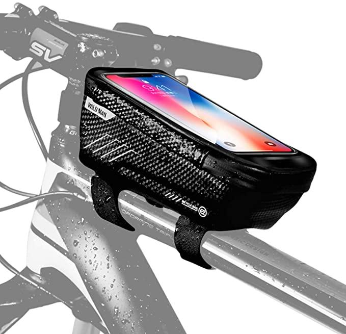 Wild Man Bicycle Bag Frame Pannier Cross Bar Top Tube Waterproof Phone Holder