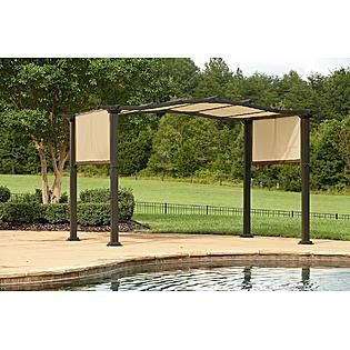 Charmant Essential Garden Curved Pergola With Canopy
