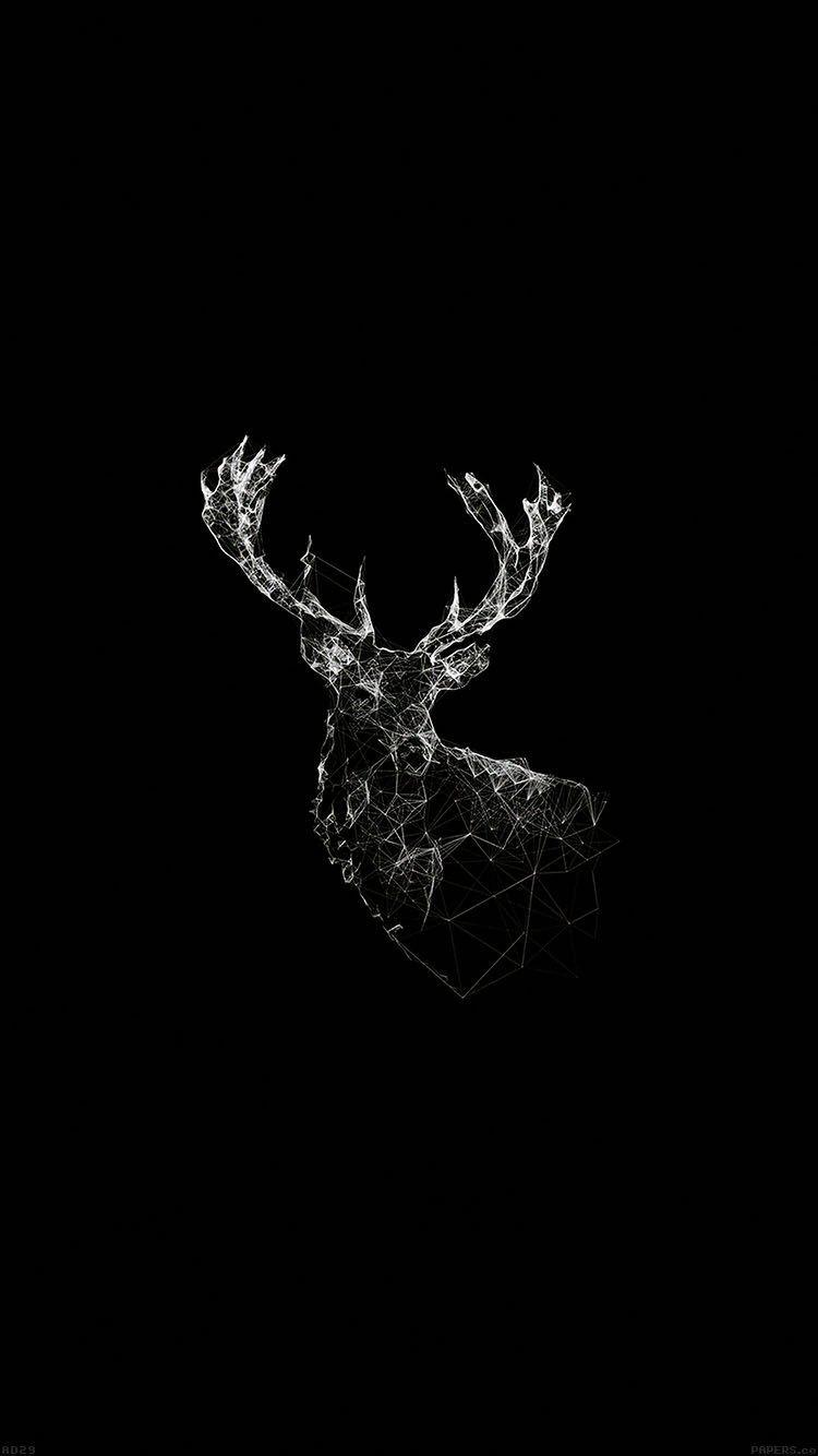 #Venado #Animals #Minimalista #Apple #iPhone #Fondos #FondosDePantalla #Wallpapers #Black #BlackAndWhite #Oled