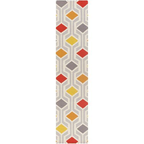 Hilda Gisele Red and Orange Multicolor Runner: 2 Ft. 3-Inch x 10 Ft. - (In No Image Available)