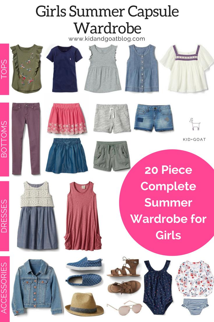 77bf23779203 Spring Summer Girls Capsule Wardrobe