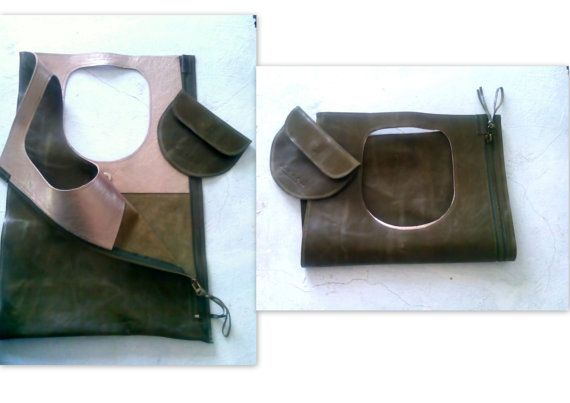 Bag Made with great care and love of genuine Italian Olive,green leather superior quality . Been designed to be worn in all case.  ~~ Italian leather.