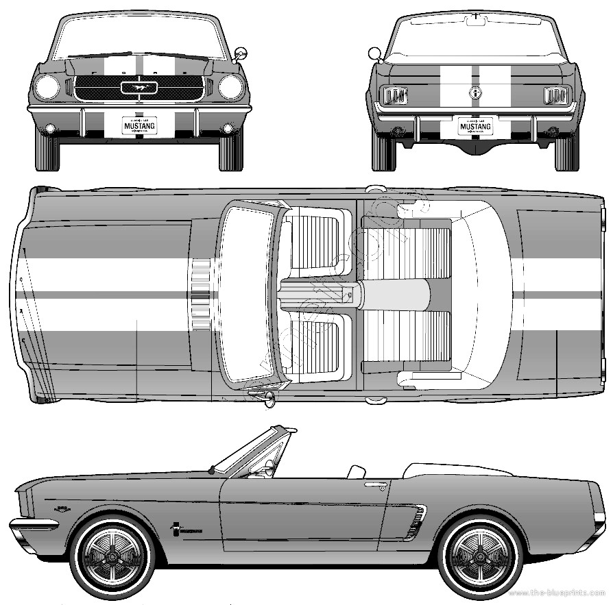 1964 Ford Mustang Convertible Blueprint | Ford Mustang | Pinterest ...