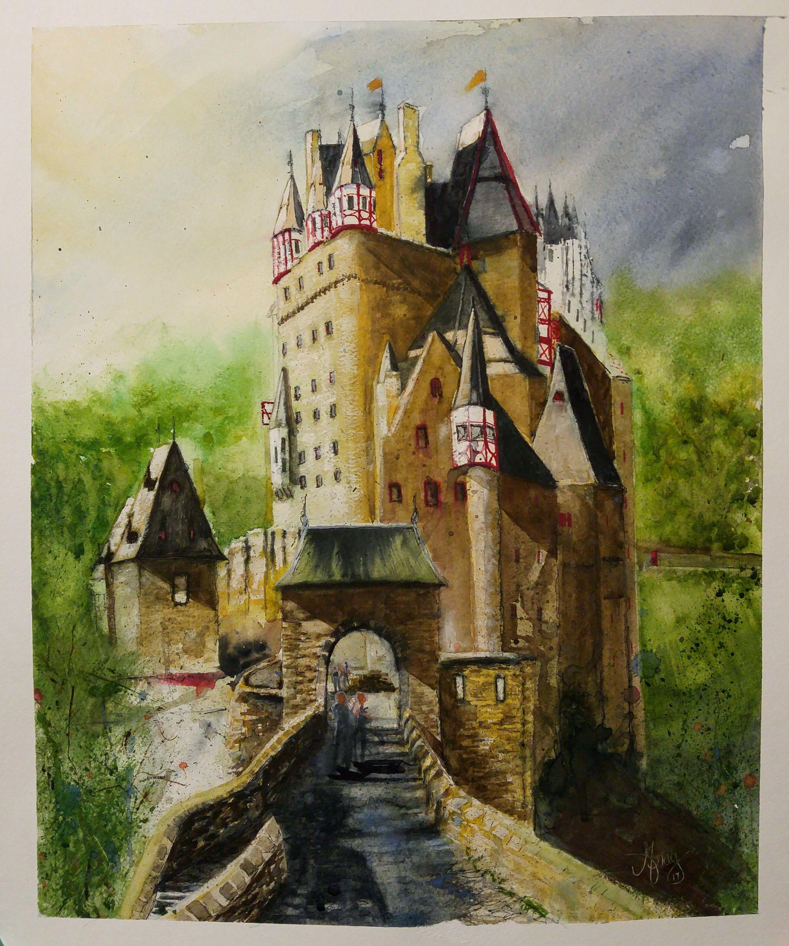 Burg Eltz Germany Painting Germany Castles Painting Process