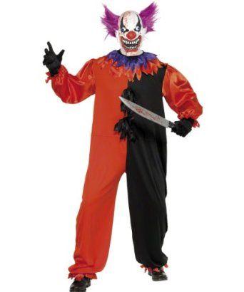 Les adultes carver the killer clown effrayant halloween fancy dress costume