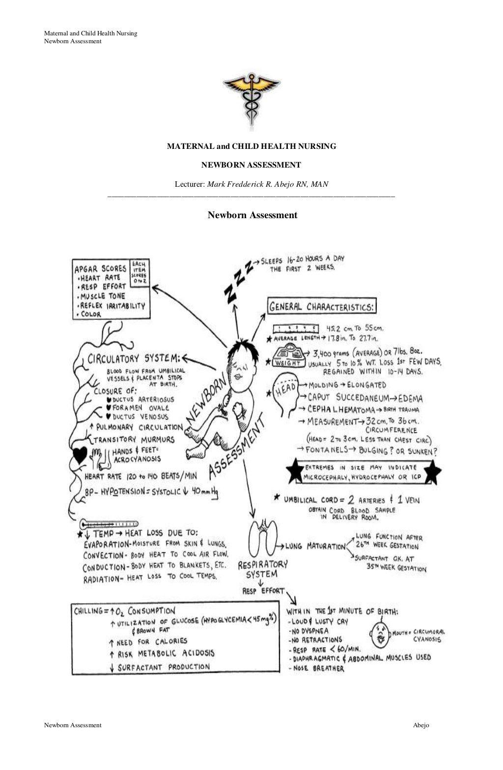 Newborn Assessment by Mark Fredderick Abejo via slideshare