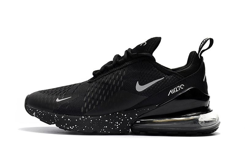 Spring Summer 2018 Real Nike Air Max 270 Flyknit 2018 Casual Running Shoes  Sneakers Black White Starry Sky 5537c2532
