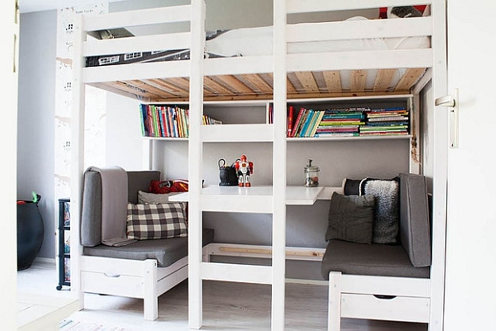 Ikea Stora Loft Bed Shelf With Images