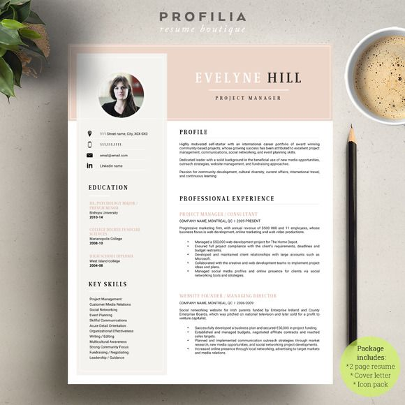 word resume  u0026 cover letter template by profilia u2026