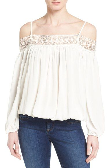 53d2066ab7032 Dex Cold Shoulder Peasant Top available at  Nordstrom