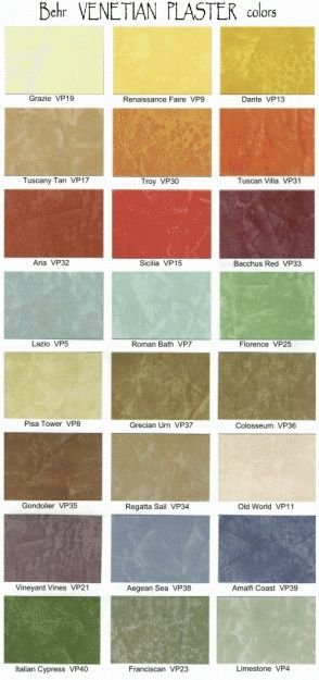 Behr venetian plaster color chart wholesale sell vesalux for Where is behr paint sold