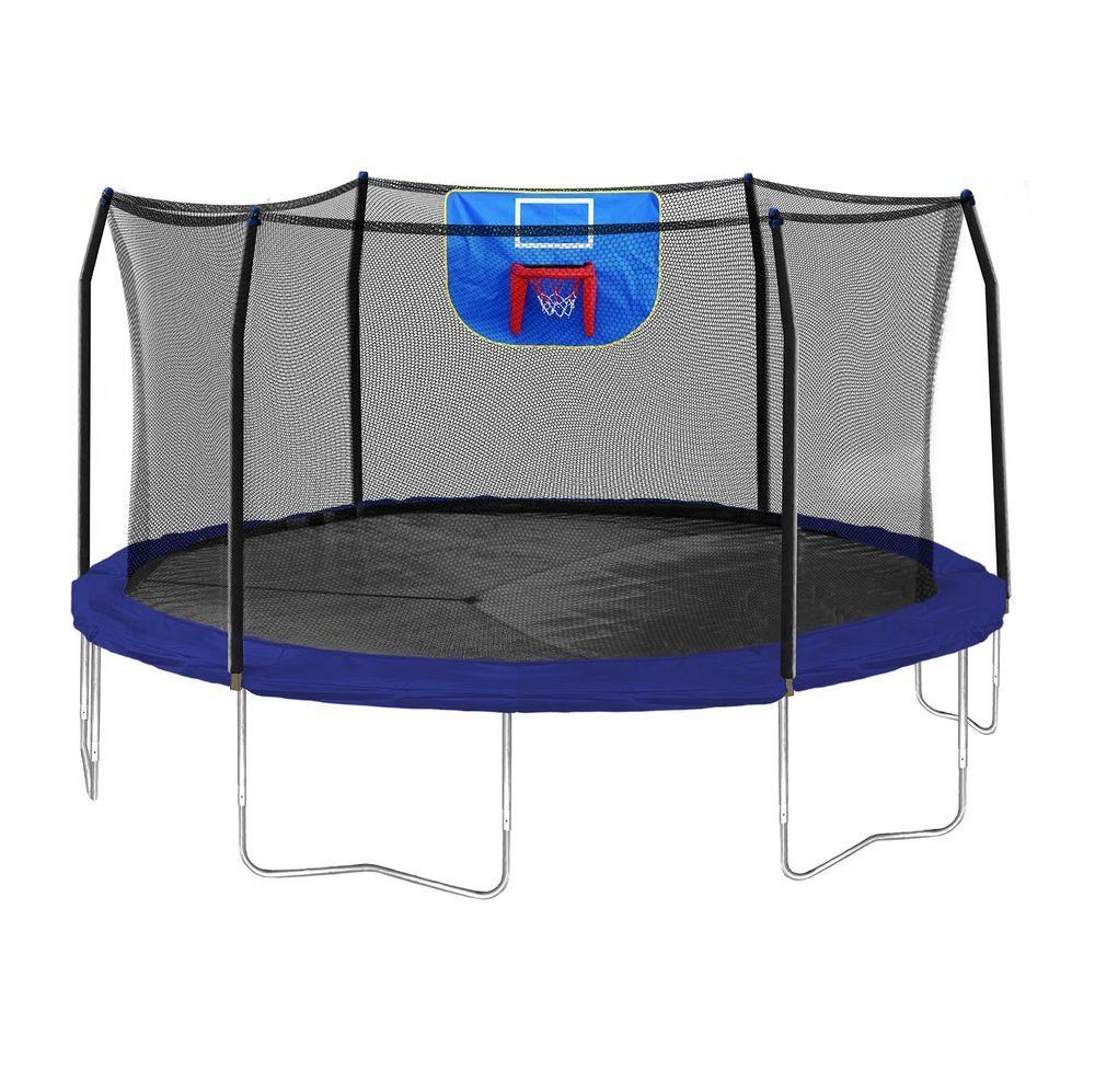 Trampoline Enclosure Skywalker Basketball Hoop 15 Feet
