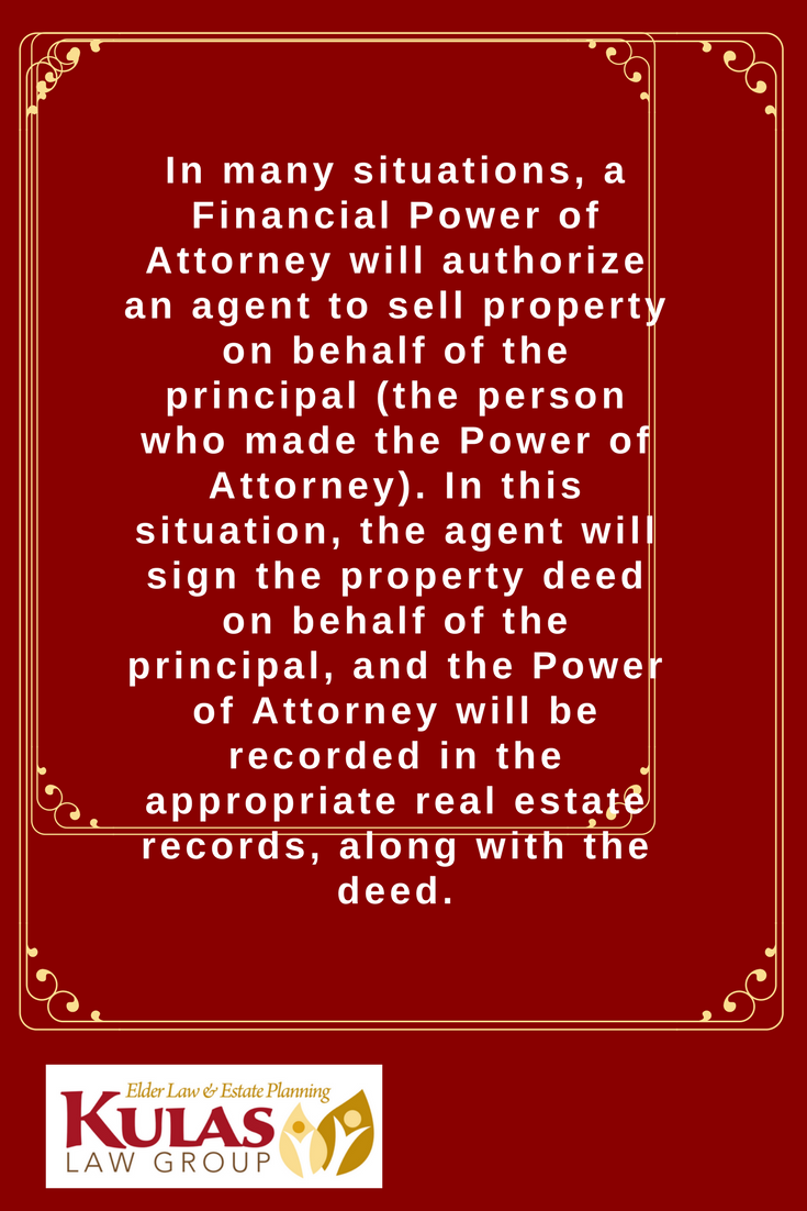 In Many Situations A Financial Power Of Attorney Will Authorize