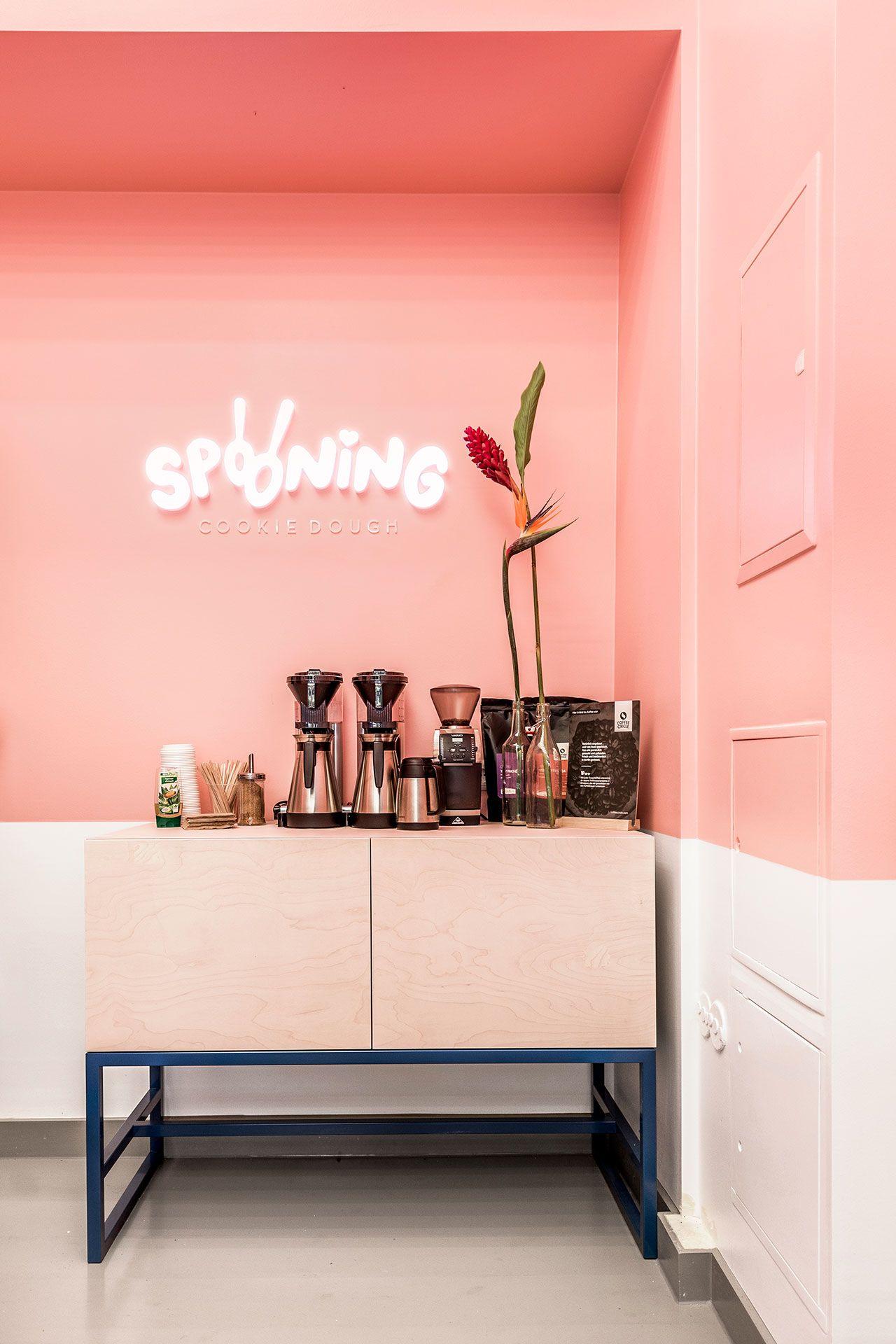 Sweet Childhood Memories Inspire Spooning Cookie Dough Bar In Berlin Bar Design Restaurant Interior Bar Design Awards