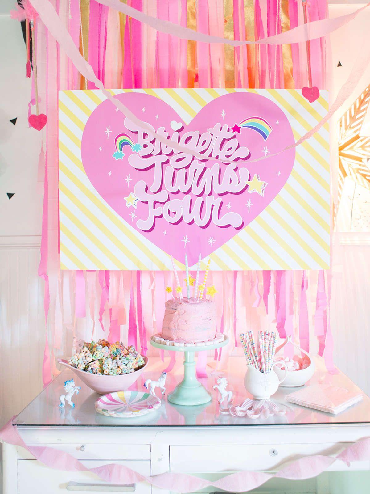 simple rainbow birthday party ideas Rainbow birthday parties