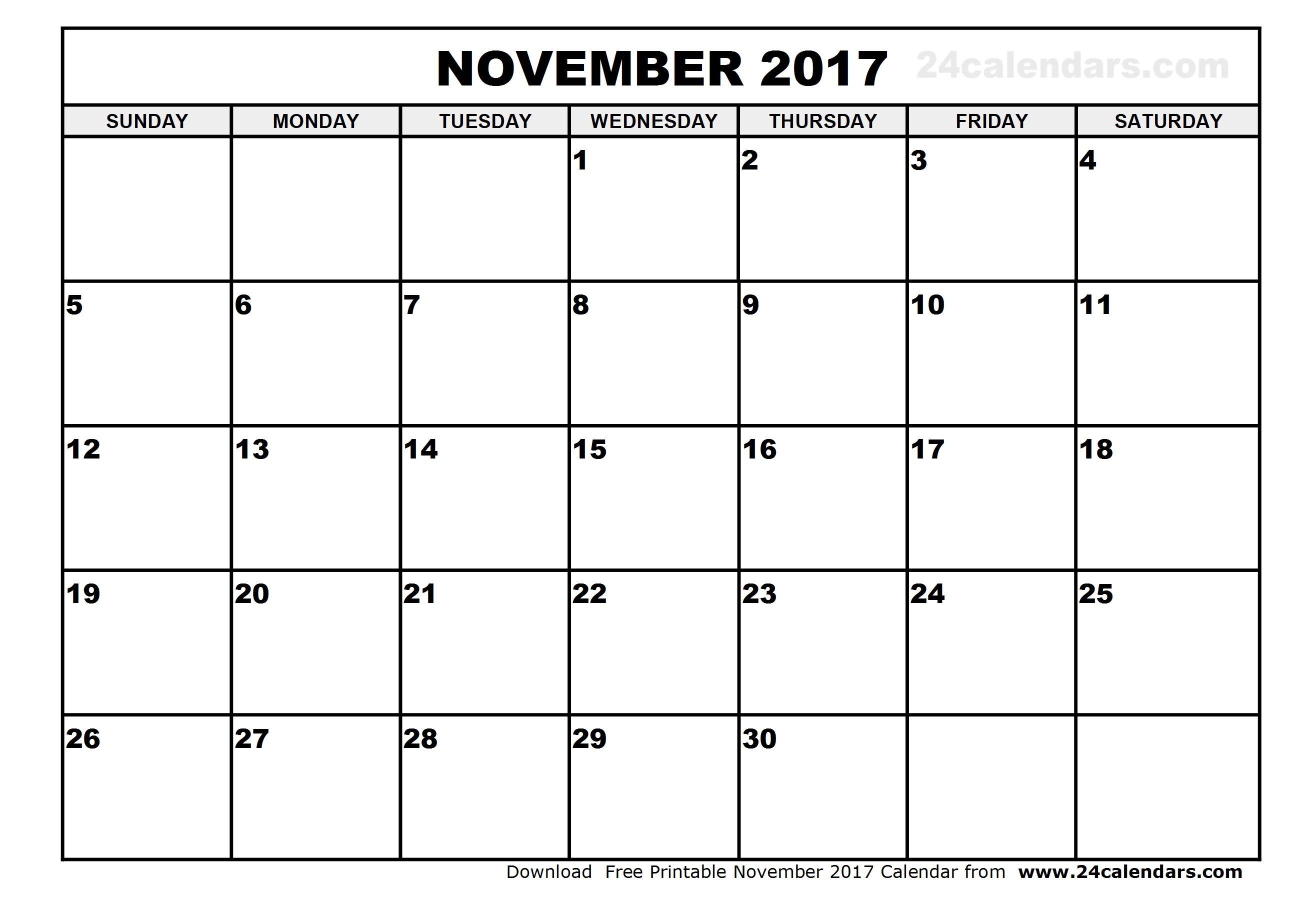 november 2017 calendar printable template with holidays pdf usa uk november calendar november 2017 printable calendar template