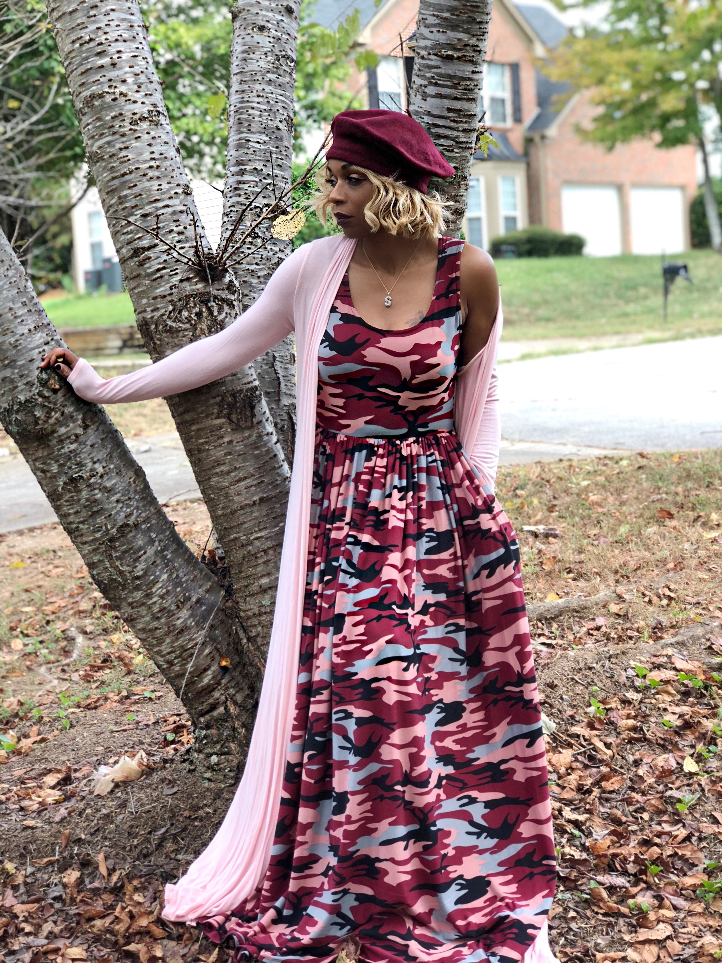 Camo Doesn T Have To Look Tough You Can Soften It Up With Feminine Colors Like Our Burgundy Camo Maxi Dress Fashion Clothes Women Fashion Maxi Dress Outfit [ 3264 x 2448 Pixel ]