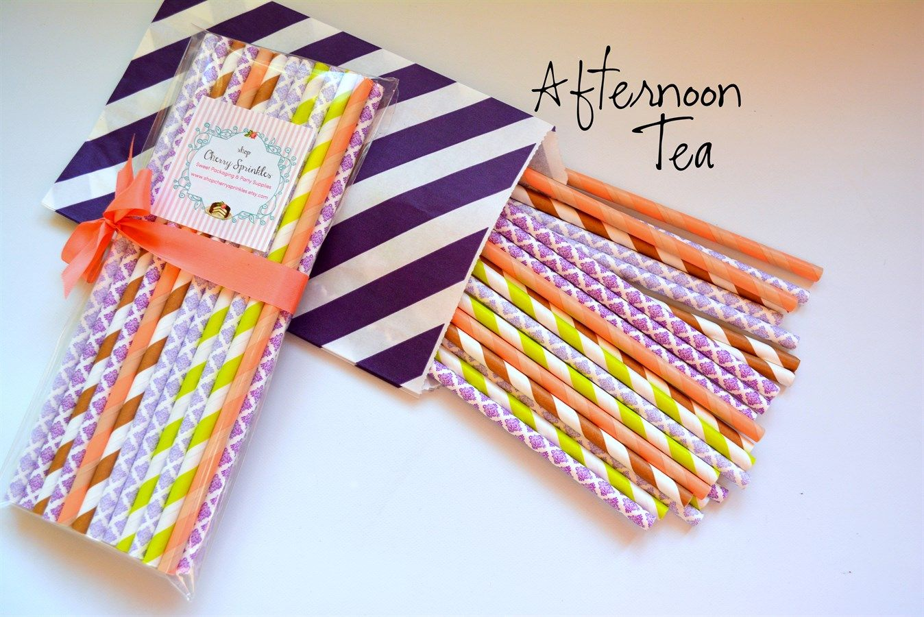 Afternoon Tea Paper Straws