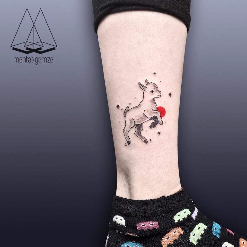 Pin By Alexandra Owens On Tattoo Lamb Tattoo Tattoo Goat Small Tattoos