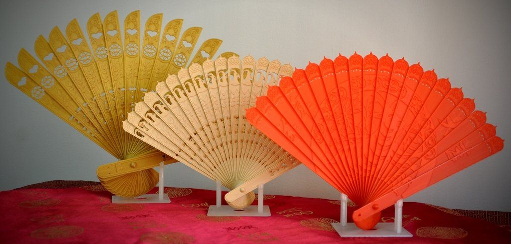 3D Printed Chinese Oriental Folding Fan (No Assembly