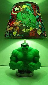 Room Ideas Marvel Avengers The Incredible Hulk Lamp Lampshade 17 Inches Tall Xmas Gift Ebay