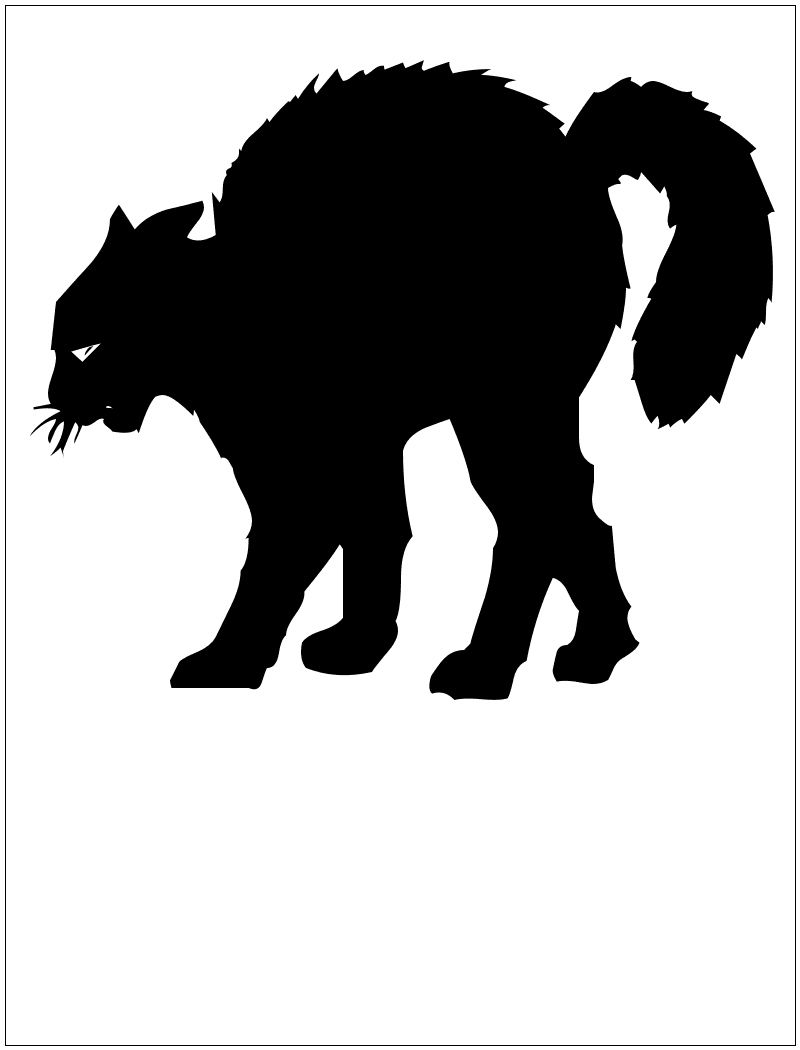 cat silhouette cat silhouette halloween 2 - Black Cat Silhouette Halloween