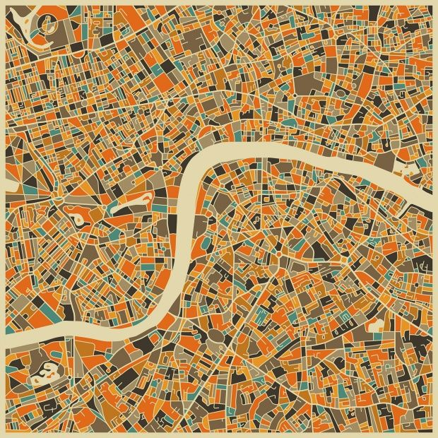Multicolor Map - London - Wall Mural & Photo Wallpaper - Photowall