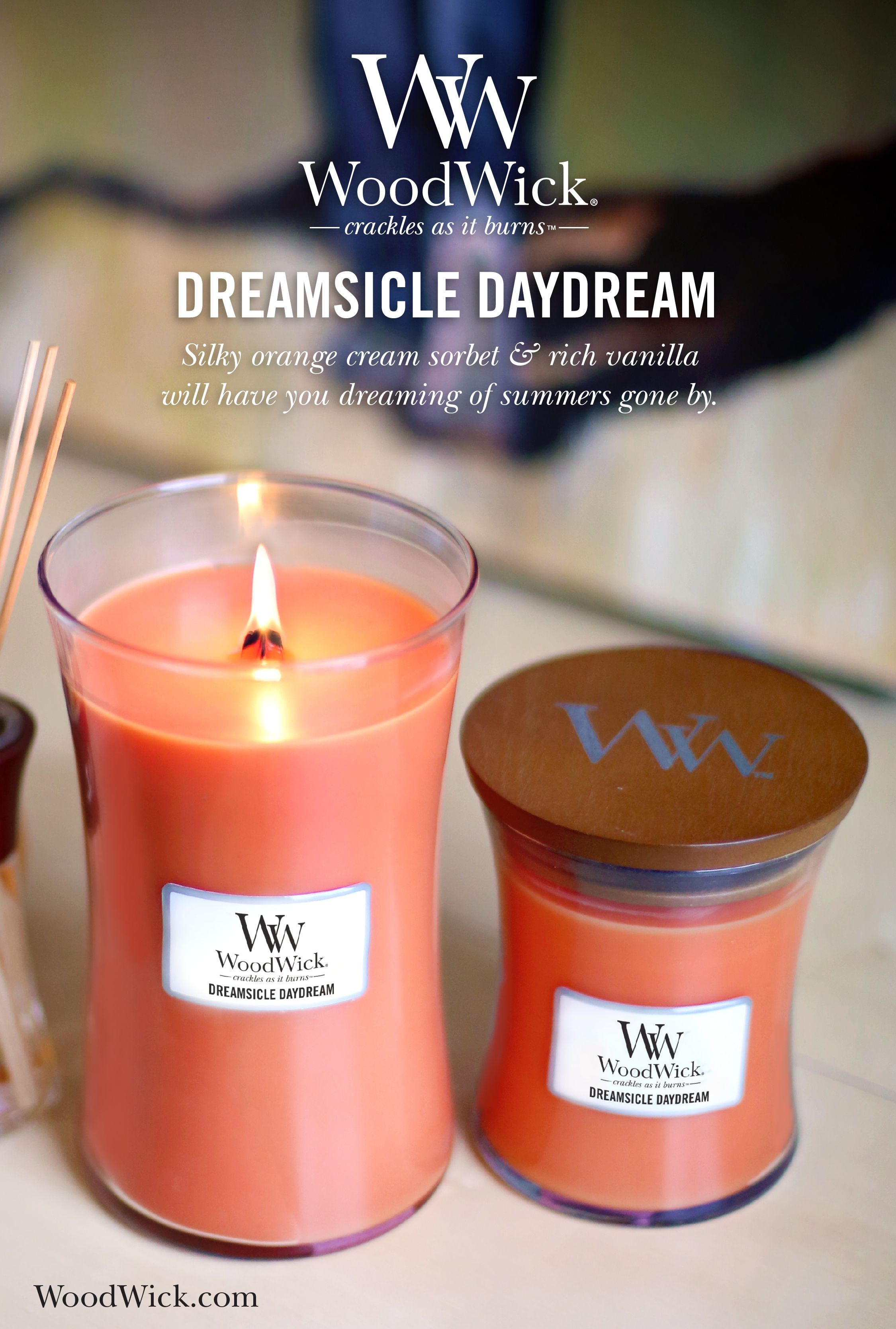 Dreamsicle Daydream By Woodwick The Natural Wooden Wick Candle