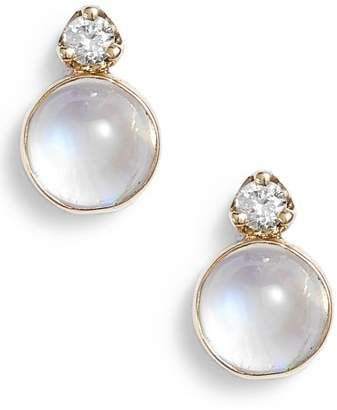 16bcd1170d07b Women's Zoë Chicco Moonstone & Diamond Stud Earrings in 2019 ...