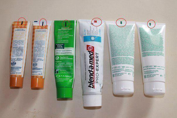 Coisas a saber ... Você sabe qual é o significado dos quadrados e retângulos na parte de trás de tubos (creme, pasta de dente, shampoo, etc)?