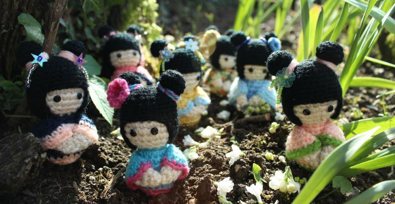 Amigurumi Doll Gratuit : Kokeshi : poupées japonaises by le royaume des têtes d'épingles