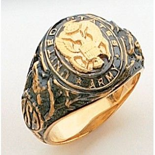 Jewelbasket Com Military Rings 14k Gold Us Army Ring