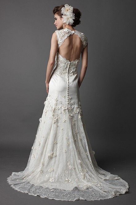 Back of the Vanessa wedding dress by Wtoo (Watters).