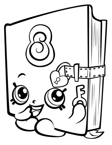 Secret Sally Shopkin M¥larbok Delines fylla i teckningar