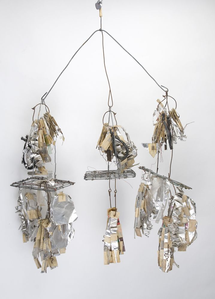Emery Blagdon Untitled # 930, c.1955-1986 Steel/ Foil/ Copper/ Wire