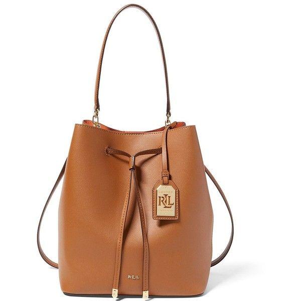 8649f155234b ... cheap lauren ralph lauren womens dryden medium drawstring leather bag  139 liked on polyvore cb3fa 1ec31 ...