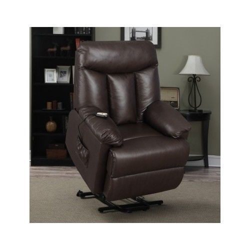 Power Lift Chair Leather Seat Brown Recliner Elderly Disabled Remote Wall Hugger  sc 1 st  Pinterest & Power Lift Chair Leather Seat Brown Recliner Elderly Disabled ... islam-shia.org