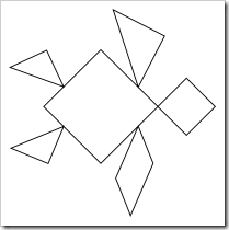picture relating to Tangram Template Printable called tangram printables Kinder - Math - Styles - 2D Tangram