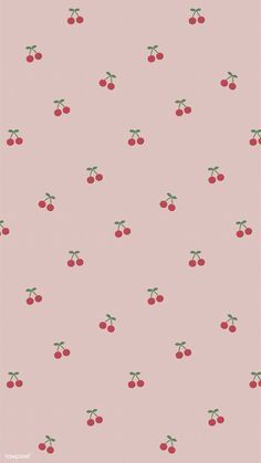 Download premium image of Red hand drawn cherry pattern on pink mobile phone wallpaper illustration by marinemynt about instagram story, cute pattern cherry, aesthetic, background pink, and backgrounds 2035428
