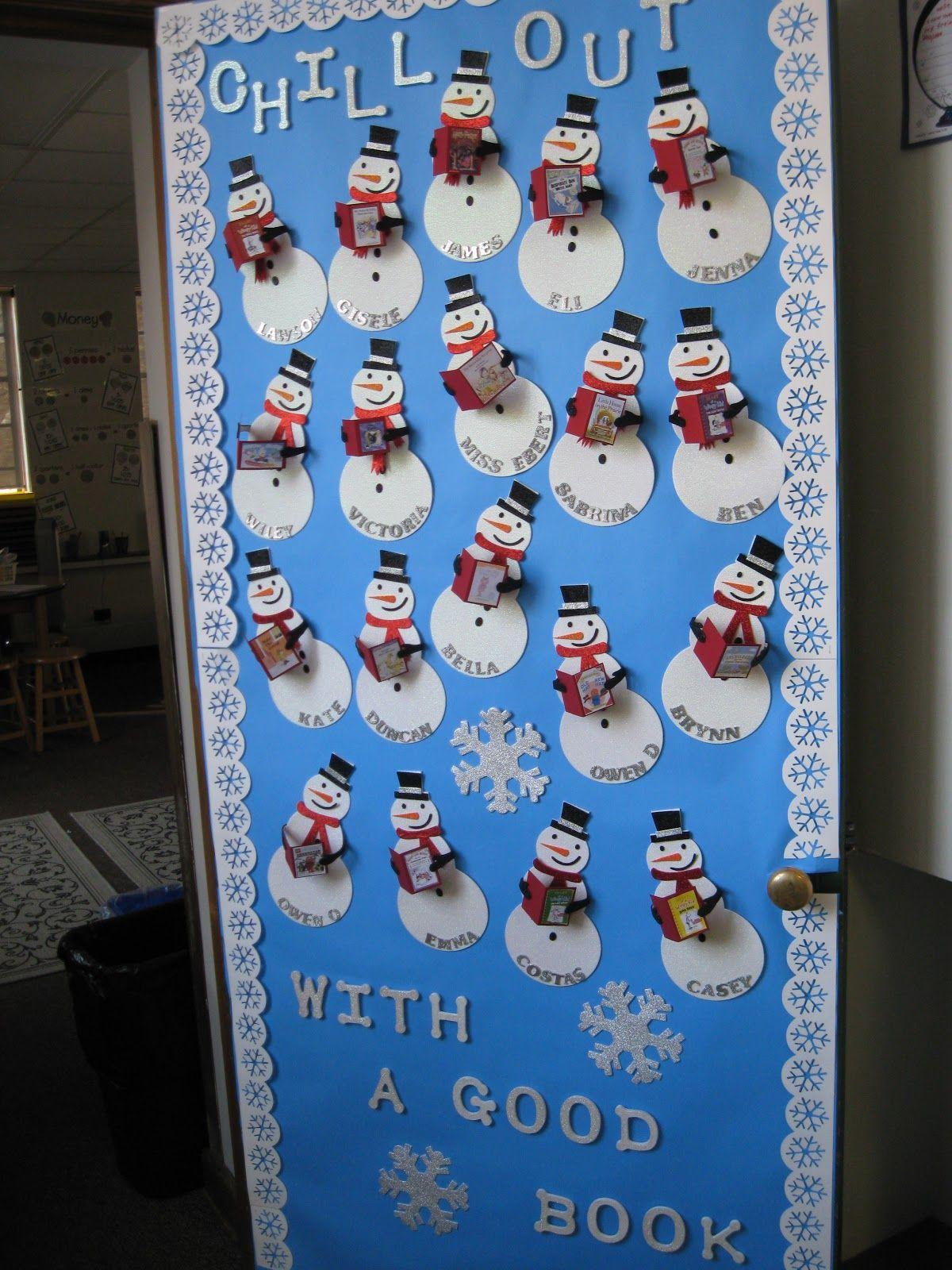 Winter Season Classroom Decorations : Kleinspiration holiday door decorations for classrooms