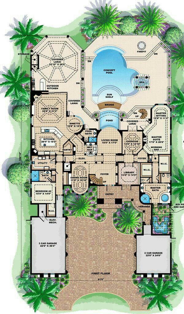 DesertRose,;,nice house plan,;, Mediterranean style