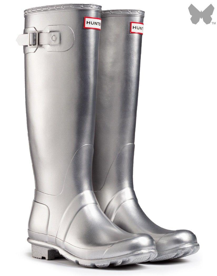 f4720ecc4640 Hunter Original Great Wellington Boots - Silver