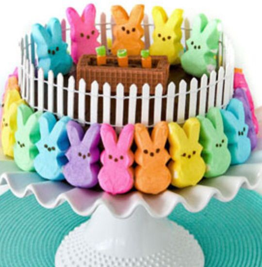 Fun Easter cake .. With Peeps