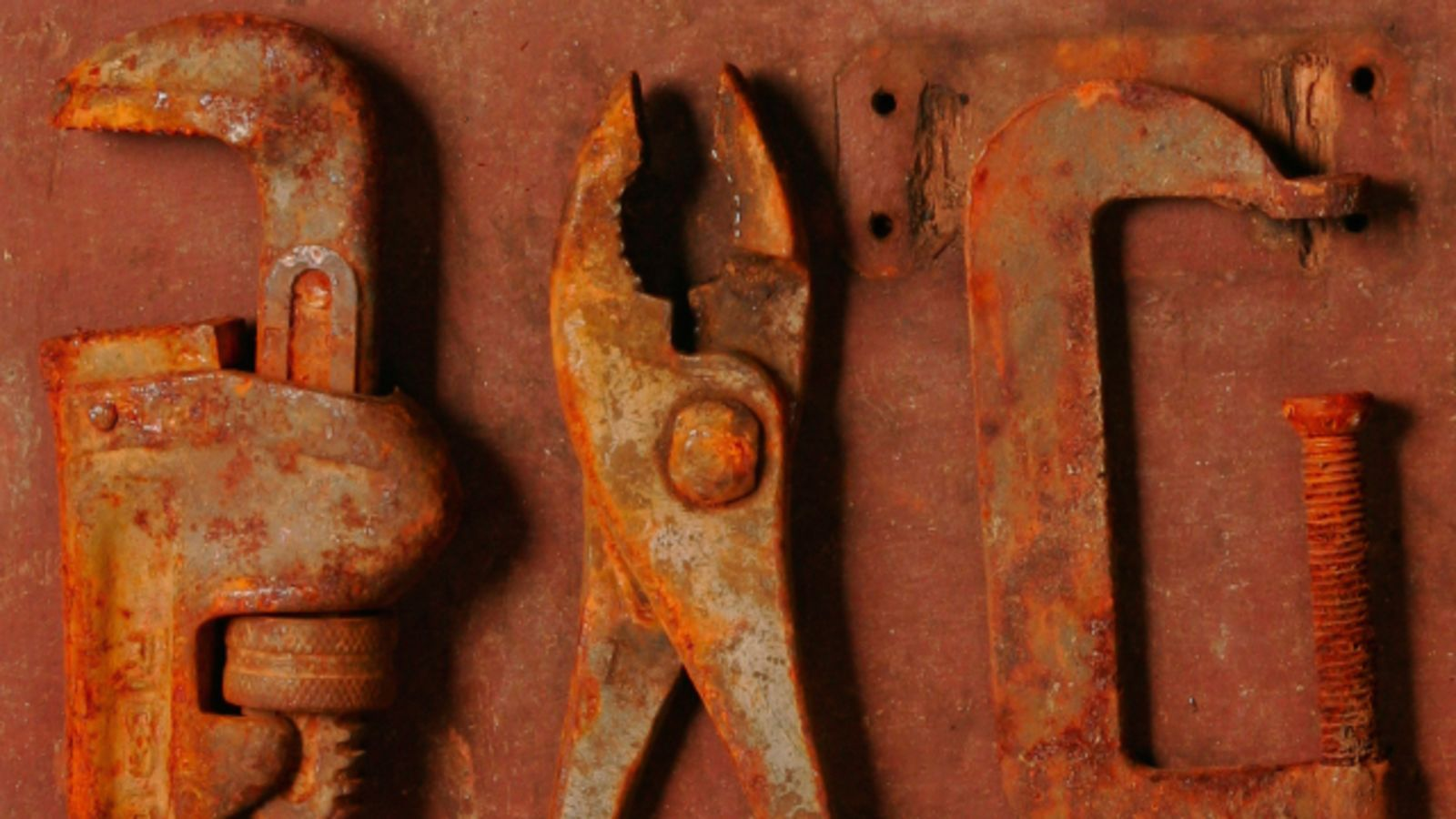 How to remove rust from old tools projects to try pinterest