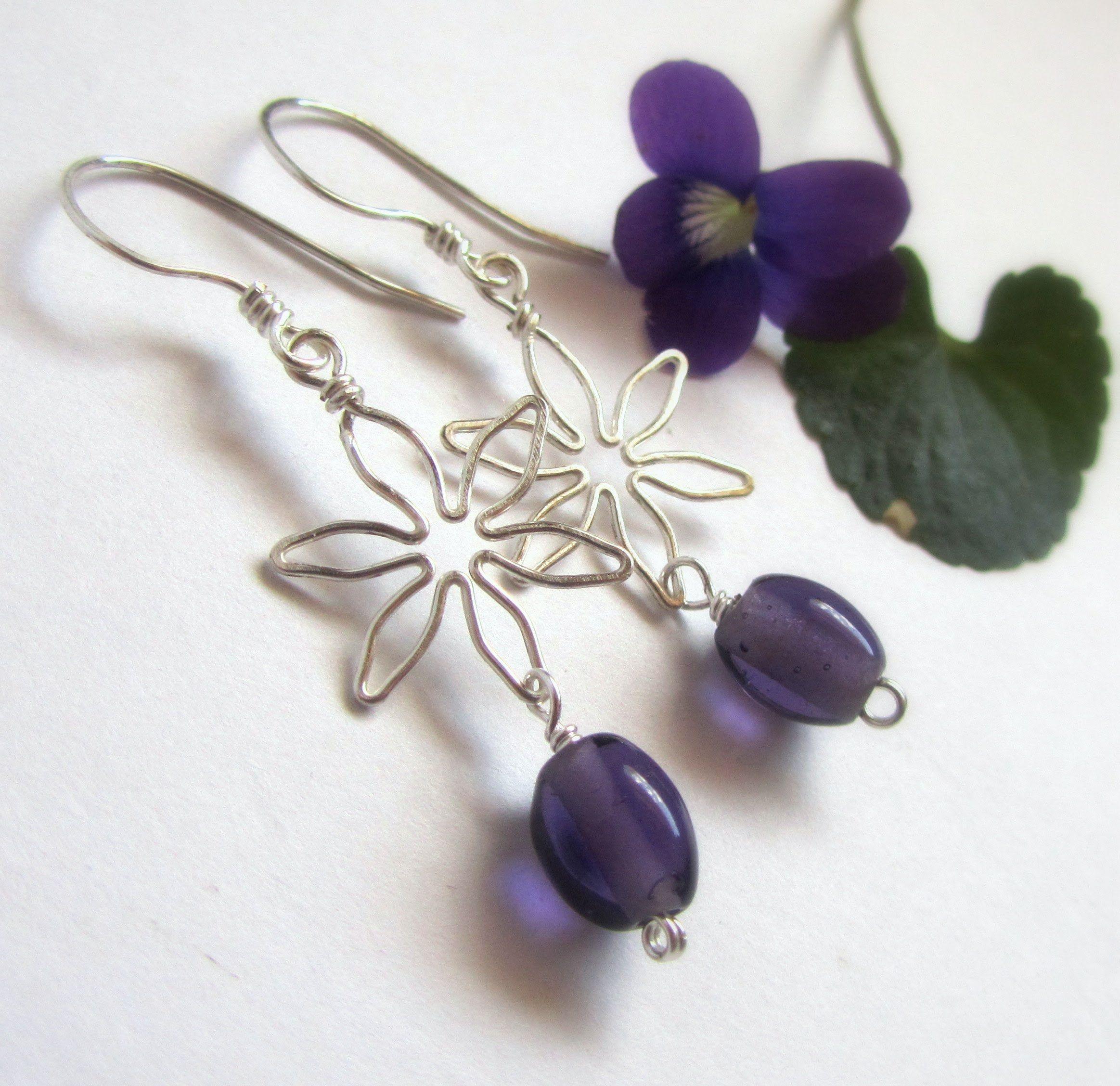 Beginner Wire Wrapped Jewelry Tutorial : Flower Earrings Part 2 ...