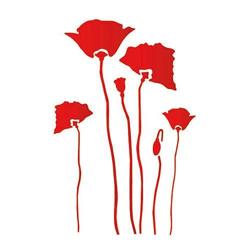 Plantilla Decorativa Les Decoratives Nº 206 Amapolas Ref. 13826001