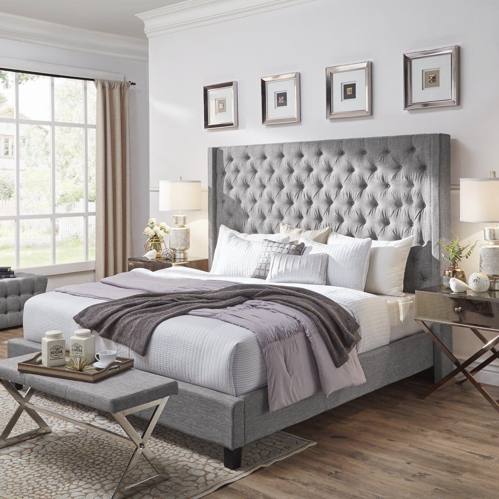 Three Posts Borchers Upholstered Panel Bed  Wayfair  Master
