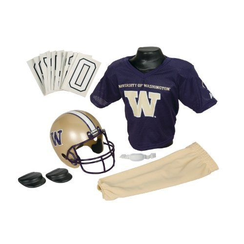 Washington Huskies Kids Youth Football Helmet And Uniform Set Franklin Sports Washington Huskies Youth Football Uniforms