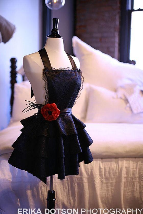Sexy black apron